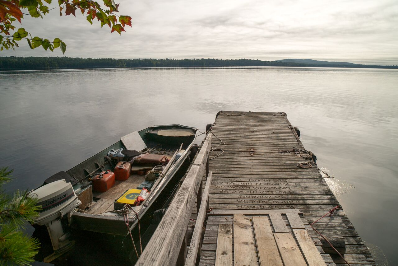 Dock at Ambajejus Boomhouse