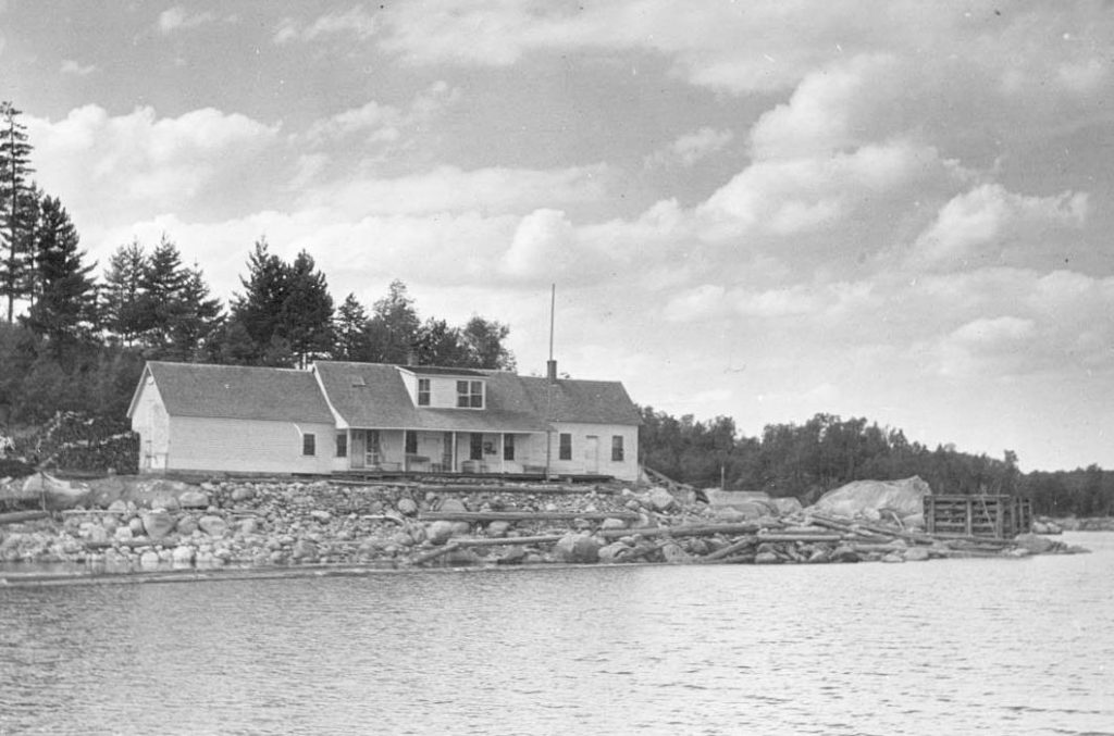 Early view of Ambajejus Boomhouse