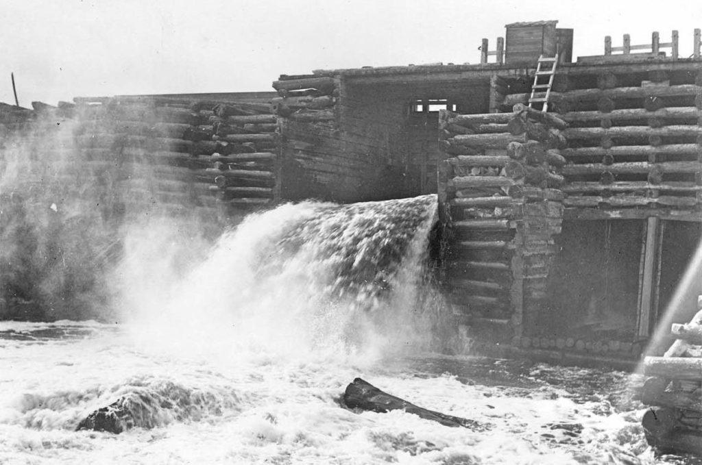 Crib Work Dam at Canada Falls