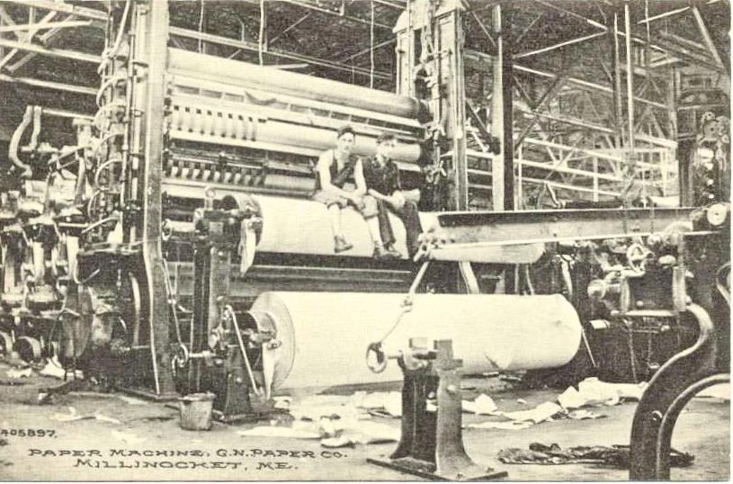 Just two guys on a paper machine