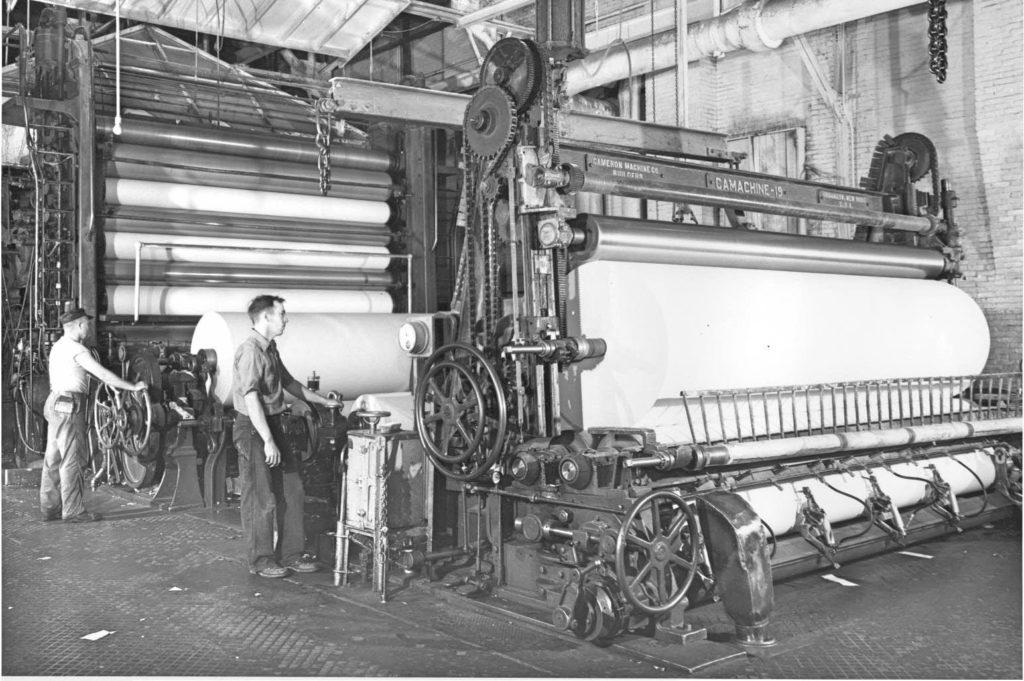 Old winder in Millinocket Paper Room