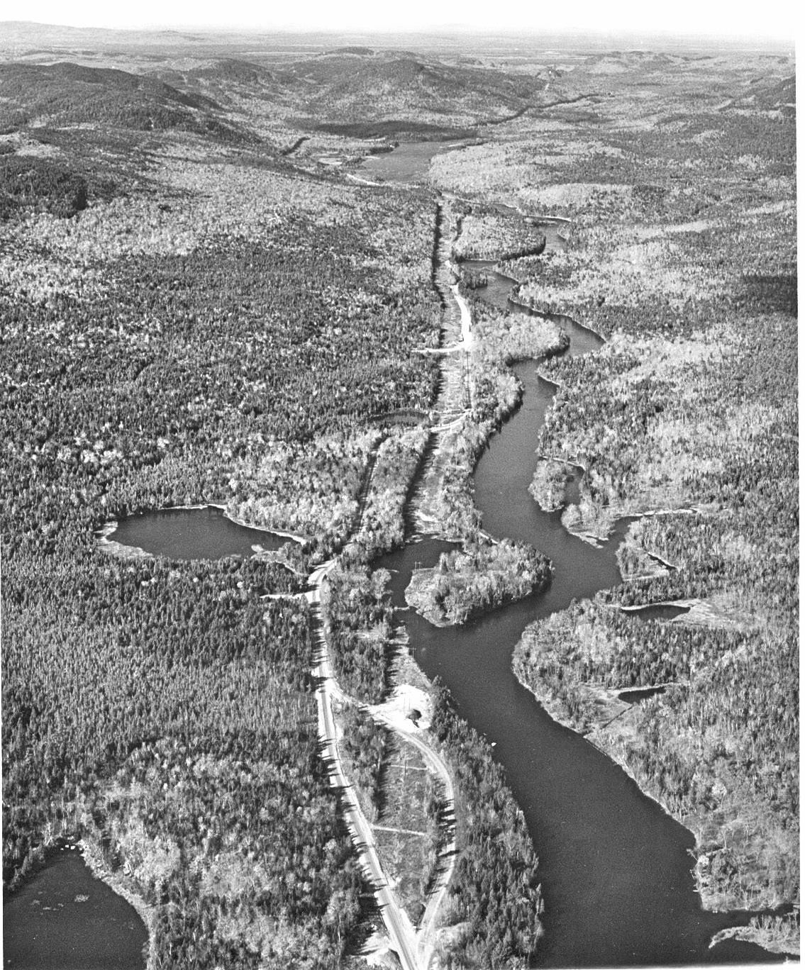 Aerial view of the West Branch and Golden Road